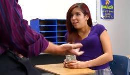 Handsome teacher cannot feel better when the student sucks his dick