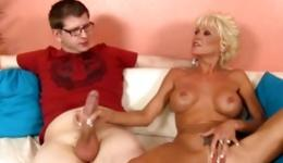 You definitely need to see this porn including voluptuous milf and her guy